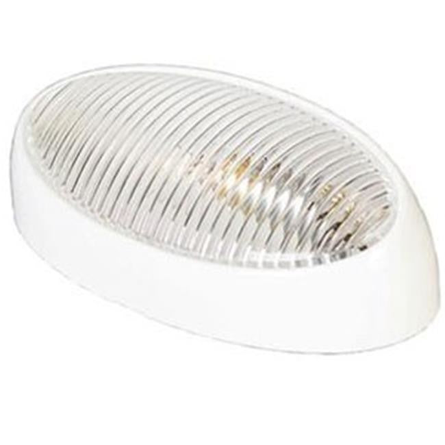 Arcon 51251 White 12V Incandescent Oval Porch Light without Switch