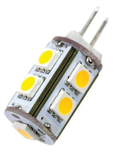 Arcon 50527 #JC10W 12V 9-LED Soft White Light Bulb
