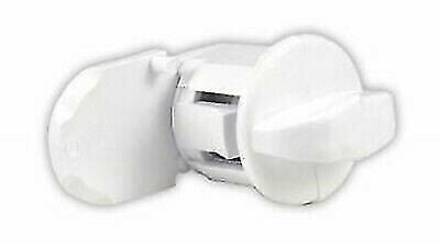 JR Products 433PW-A White Exterior Hatch Thumb Lock
