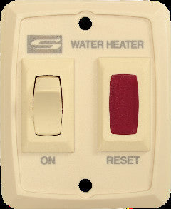 Suburban 234795 Cream D/DE Water Heater Wall On/Off Switch