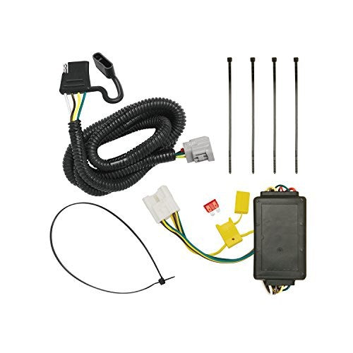 Tekonsha 118255 4-Flat Tow Harness Wiring Package with Circuit Protected ModuLite Module