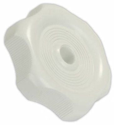 "JR Products 20355 1/4"" White Plastic Window Vent Knob"
