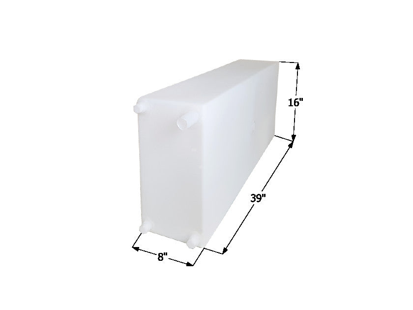"Icon 12460 39""x 16"" 20 Gallon Roto-Molded Fresh Water Holding Tank - WT2460"
