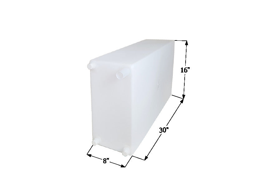 "Icon 12467 30""x 16"" 15 Gallon Roto-Molded Fresh Water Holding Tank - WT2467"