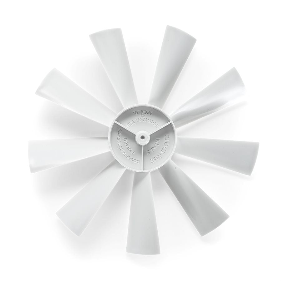 "Camco 40428 12 Volt Roof Vent Repl. 6"" Clockwise .125"" D-bore Fan Blade"