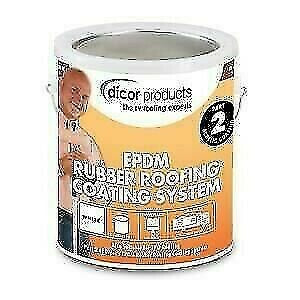 Dicor RP-CRC-1 EPDM White Acrylic Rubber Roof Coating System - 1 Gallon