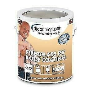 Dicor RP-FRC-1 Acrylic White Fiberglass Roof Coating System - 1 Gallon