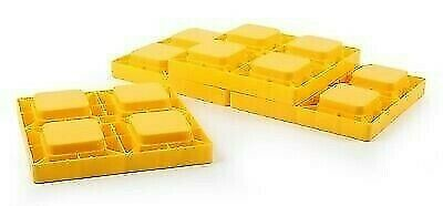 Camco 44501 Yellow Heavy Duty Stackable Leveling Blocks with Travel Bag - 4pk