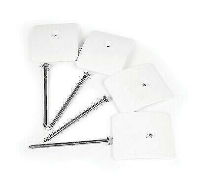 Camco 45631 White Patio Awning Mat Plastic Hold-down Anchors - 4pk