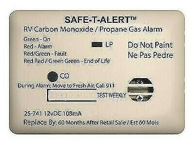 Safe-T-Alert 25-741-WT Mini White Surface Mount CO/Propane Dual Gas Alarm