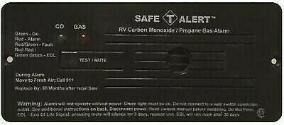 Flush Mount Propane/Carbon Monoxide Gas Alarm | Black | Safe-T-Alert | 35-742-BL