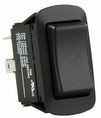 JR Products 13865 Black Water Resist. Mom-On/Off/ Mom-On Reversing Switch