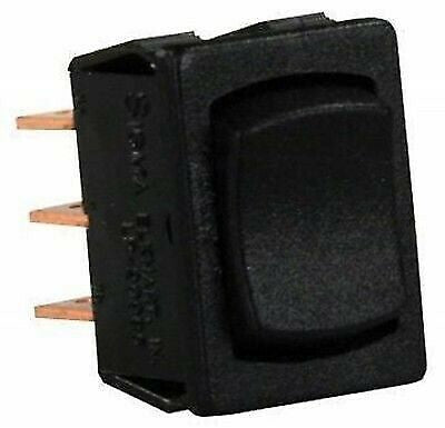 JR Products 13445 Black 6 Pin Mini Mom-On/Off/ Mom-On Switch