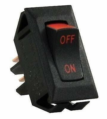 JR Products 13655 Black Labeled On/Off Switch