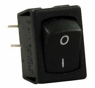 JR Products 13735 Black Mini Labeled On/Off Switch with Black Bezel
