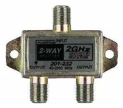JR Products 47355 2-Way 2.4 GHz F-Style TV Cable Splitter
