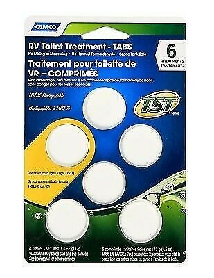 Camco 41152 TST Biodegradable Holding Tank Drop-in Tabs - 6pk