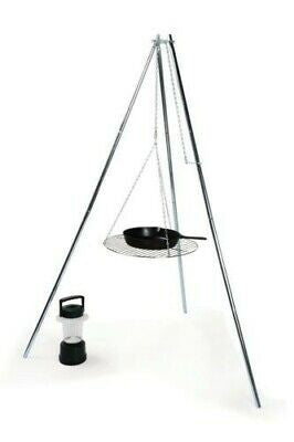 Camco 51079 Camping Essentials Tripod Grill and Lantern Holder