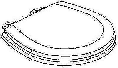 Dometic 385344437 Sealand Bone Toilet Seat and Cover