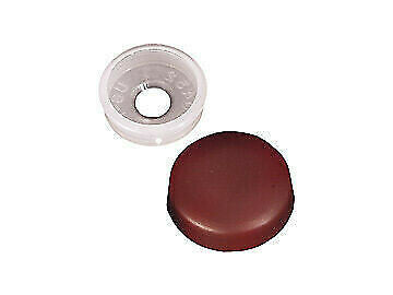 "RV Designer H605 1/4"" Brown Screw Cover Snaps - 14pk"