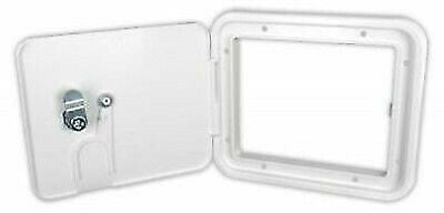 JR Products S7132-A Polar White Medium Electric Cable Hatch