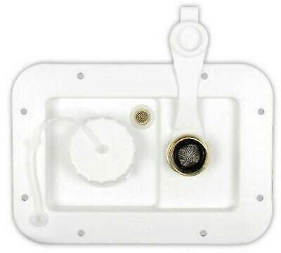 "JR Products 497-AD-26-A 1/2"" MPT Polar White Gravity City Water Hatch"