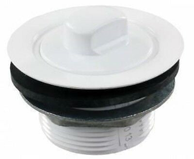 "JR Products 184030-A 2"" White Plastic Tub Strainer with Threaded Stopper"