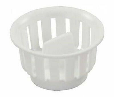 JR Products 95045 Plastic White Screw-In Strainer Basket