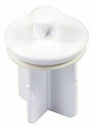 JR Products 95205 Pop-Up Plastic White Drain Stopper