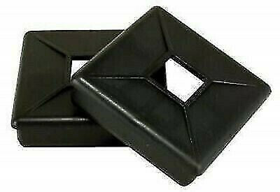 "Jr Products 358-A 4"" Black Bumper Plug without with Tabs - 2pk"