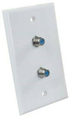 JR Products 47875 Polar White Dual Cable Wall Plate