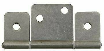 JR Products 70665 Cabinet Non-Mortise Satin Nickle Extended Hinge - 2pk