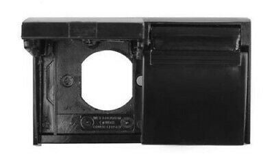 JR Products 05-12115 Weatherproof AC Black Duplex Outlet Cover