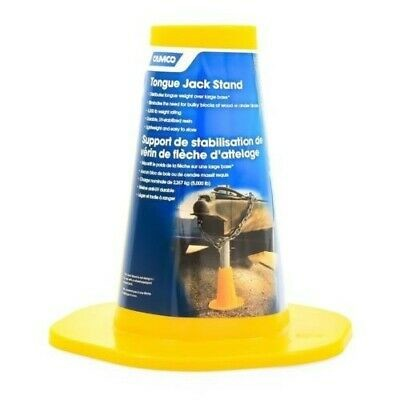 Camco 44635 5,000lb Lightweight Yellow Tongue Jack Stand