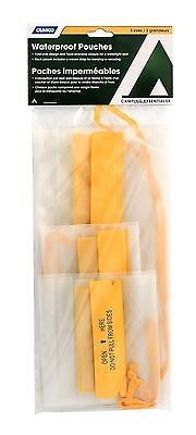 Camco 51340 Camping Essentials Triple-fold Waterproof Pouches - 3pk