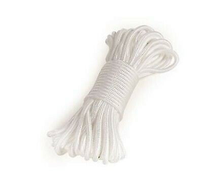 Camco 51350 Camping Essentials 50' White Polpropylene Medium Duty Rope