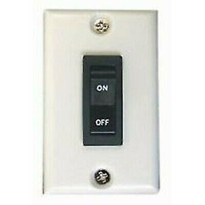 Prime Products 11-0192 12V On/Off Rocker Switch with White Wall Plate