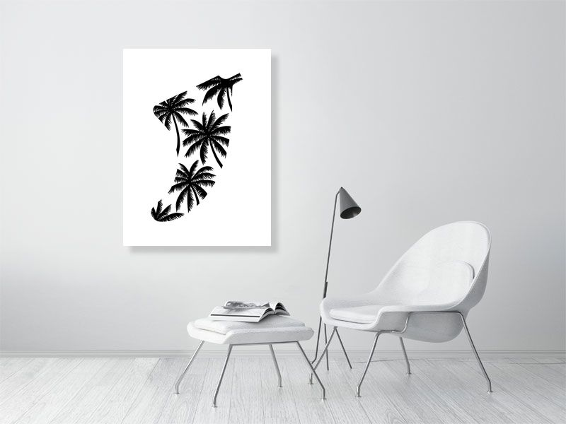 "30"" x 40"" Palm Tree Fin Giclée Surf Art Print - Limited Edition 50"
