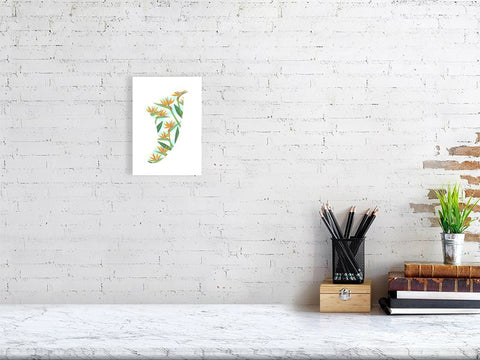 Image of A5 Bird of Paradise Fin Giclée Surf Art Print - Limited Edition 50