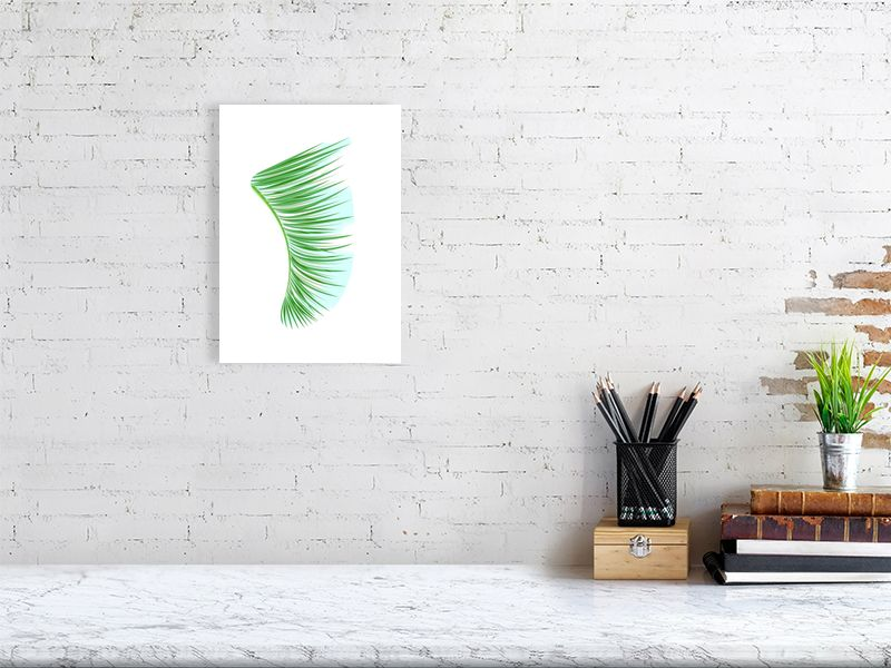 A4 Green Palm Fronds Fin Giclée Surf Art Print - Limited Edition 50