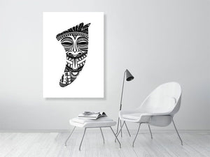 A0 Tiki Idol Fin Giclée Surf Art Print - Limited Edition 50