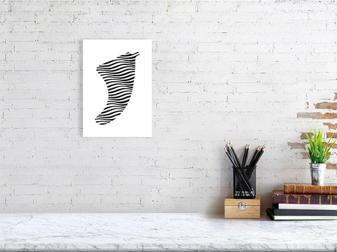 Image of A4 Swell Illusion Fin Giclée Surf Art Print - Limited Edition 50