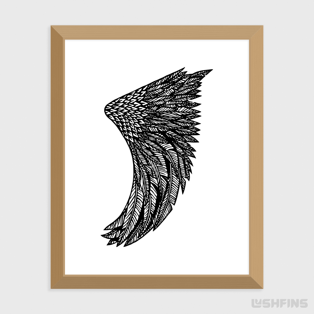 "11"" x 14"" Wing Fin Giclée Surf Art Print - Limited Edition 50"