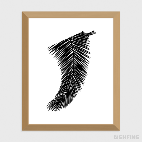 "16"" x 20"" Palm Leaf Fin Giclée Surf Art Print - Limited Edition 50"