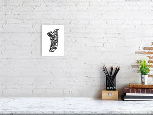 A5 Twisted Tentacles Fin Giclée Surf Art Print - Limited Edition 50