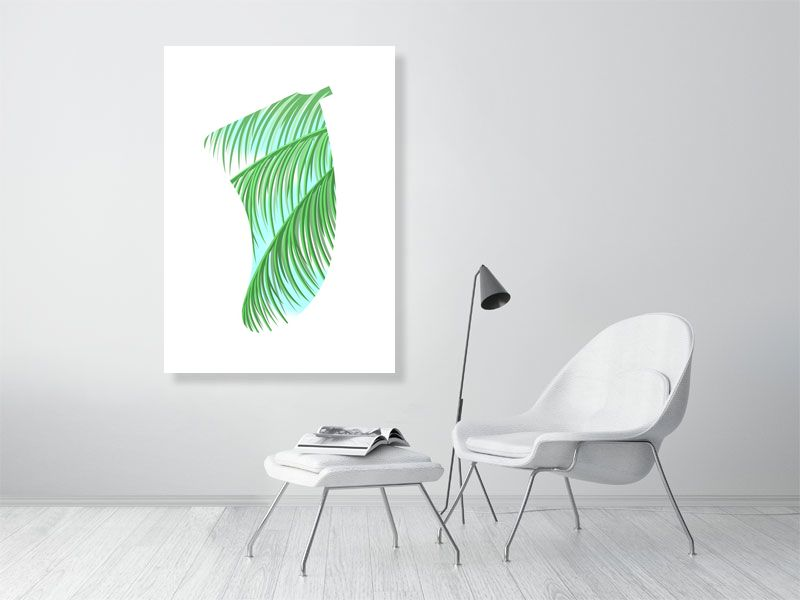 A0 Three Palms Fin Giclée Surf Art Print - Limited Edition 50