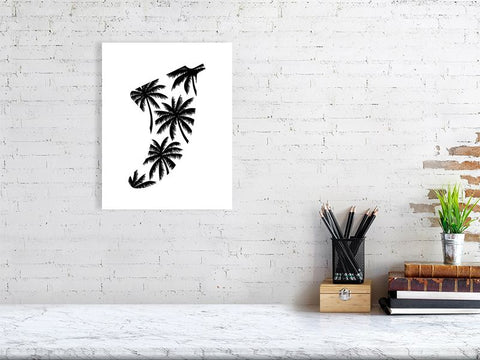 "Image of 11"" x 14"" Palm Tree Fin Giclée Surf Art Print - Limited Edition 50"
