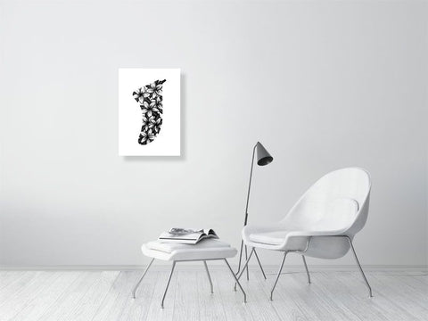 Image of A2 Frangipani Flowers Fin Giclée Surf Art Print - Limited Edition 50