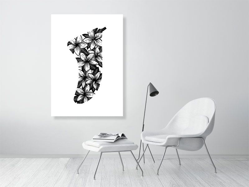 A0 Frangipani Flowers Fin Giclée Surf Art Print - Limited Edition 50