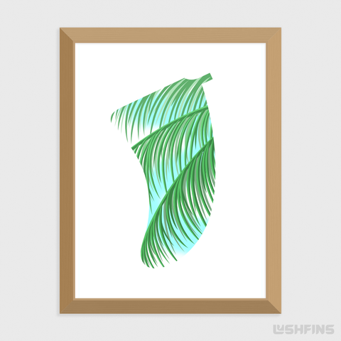 "30"" x 40"" Three Palms Fin Giclée Surf Art Print - Limited Edition 50"